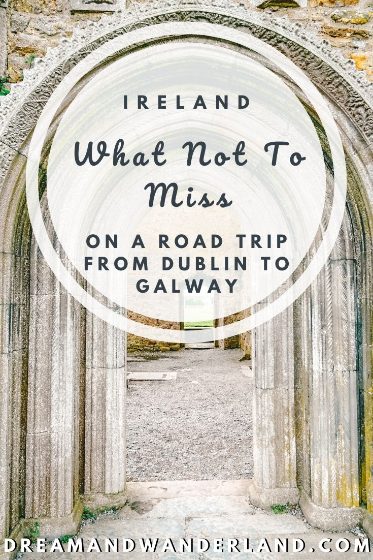 A road trip through Ireland! The drive from Dublin to Galway, visiting Clonmacnoise, Tullamore, and Shannonbridge is the ideal route and a must do! Travel the Emerald Island and have the perfect dream vacation!