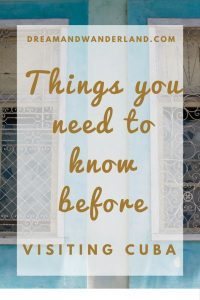 Things you need to know before visiting Cuba