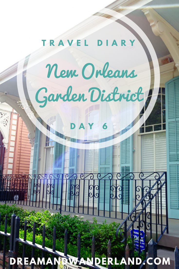 Day 6 - Remote work and the Garden District #travel #diary #traveling #solo