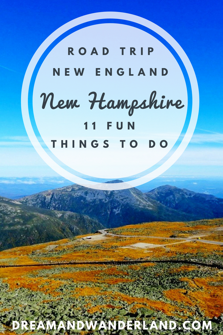 What to do on a road trip in New England? Here are 11 fun things to do in New Hampshire which you shouldn't miss out! #indiansummer #newengland #travel #solo #newhampshire #fallfoliage