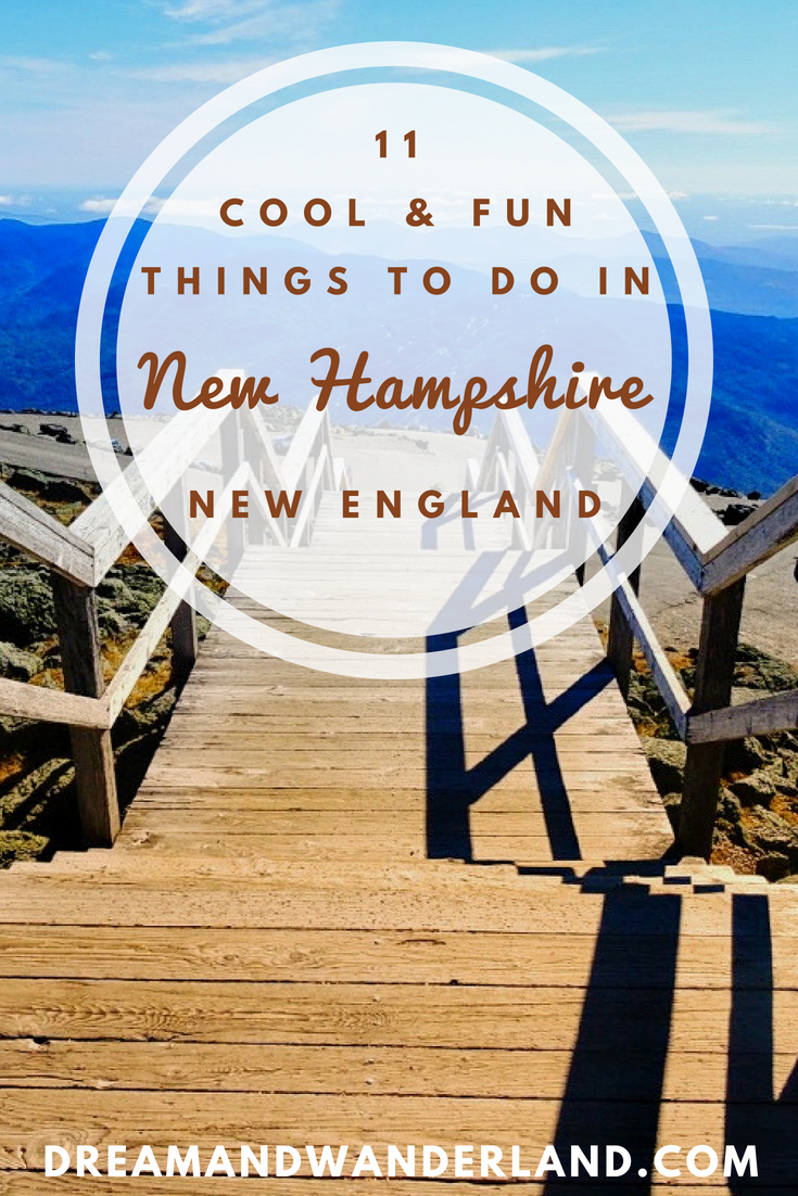 Are you ready for 11 fun and cool things to do in New Hampshire? #indiansummer #newengland #travel #solo #newhampshire #fallfoliage