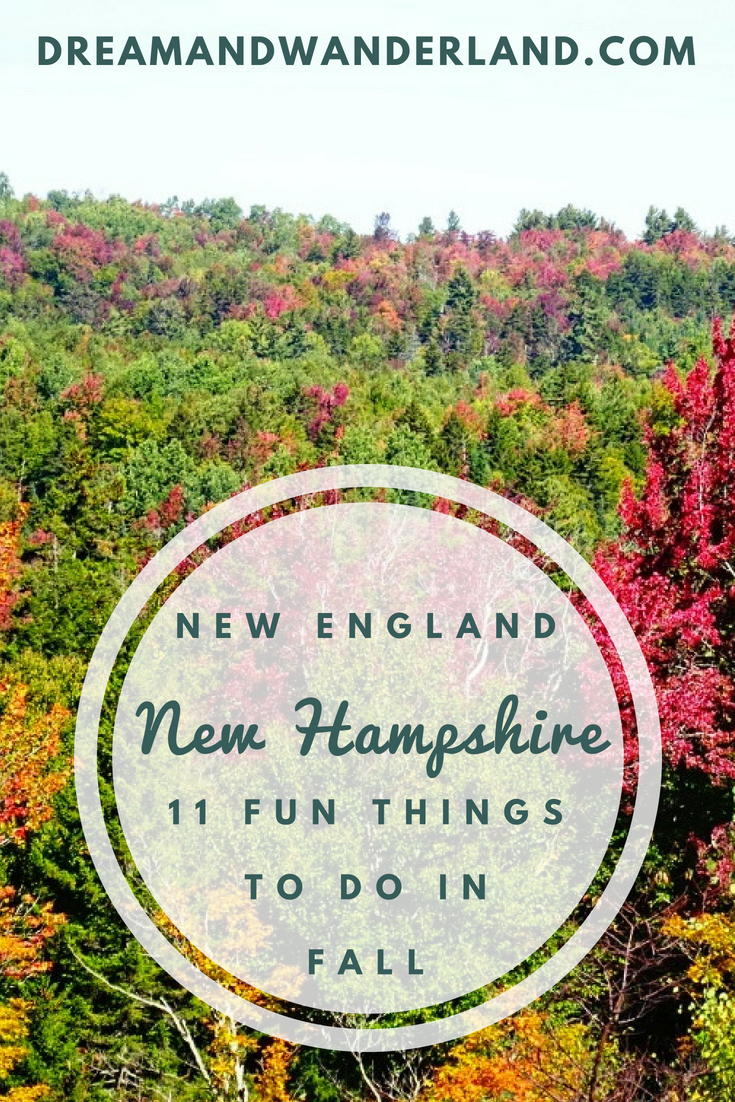On a road trip through New England, especially, in fall or spring you should not leave out these 11 fun things to do in New Hampshire! #indiansummer #newengland #travel #solo #newhampshire #fallfoliage