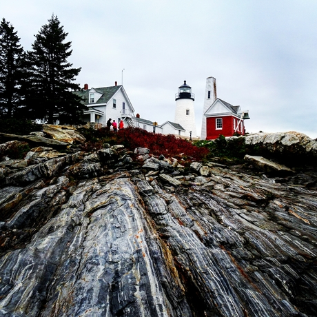 New England - Lighthouses in Maine - Pemaquid Point Head Light