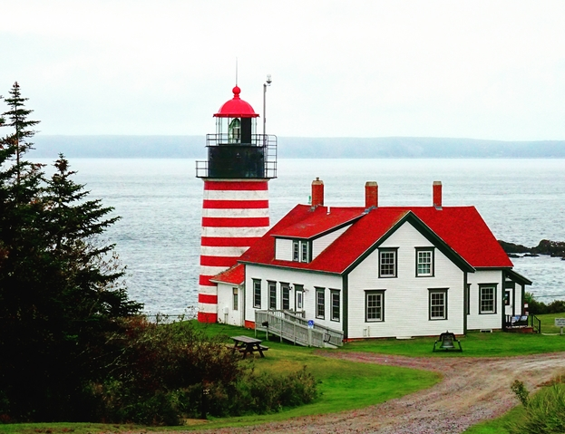 New England - Lighthouses in Maine - West Quoddy Head Light