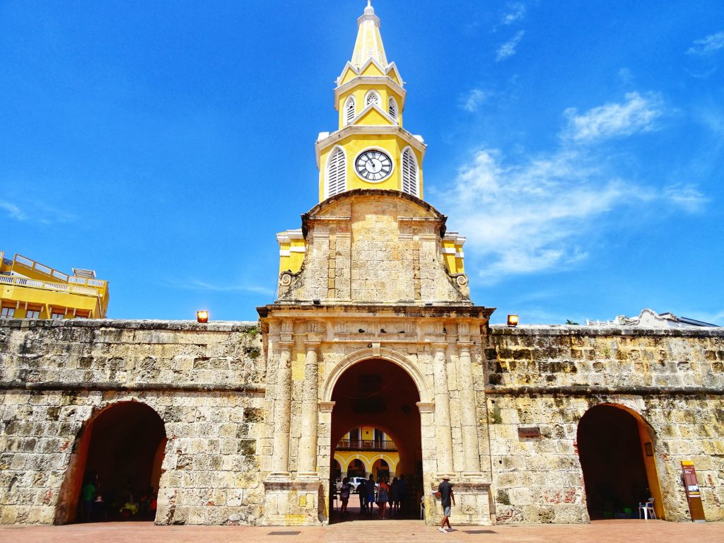 Explore Cartagena - Clock Tower - Entrance Old Town #travel #solo #southamerica #colombia