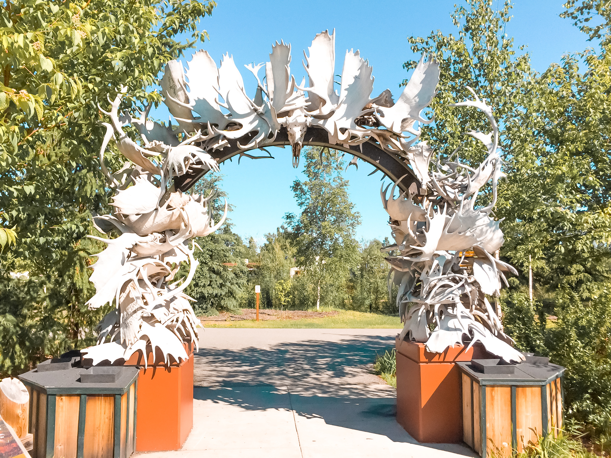 A road trip through Alaska! Spend a relaxed day in Fairbanks and explore Chena River walk, one of the best things to do in Fairbanks!