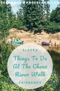 A road trip through Alaska! Spend a relaxed day in Fairbanks and explore Chena River walk, one of the best things to do in Fairbanks! Enjoy you travels! #usa #travel #vacation