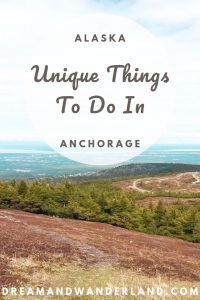 Travel Alasaka and explore the best and unique things to do in Anchorage. Enjoy you vacation and continue your road trip afterward. E.g. Enjoy the view from Flat Top Mountain!
