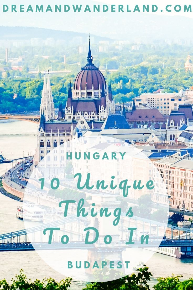A weekend getaway to Budapest, Hungary and 10 unique things to do! #travel #europe