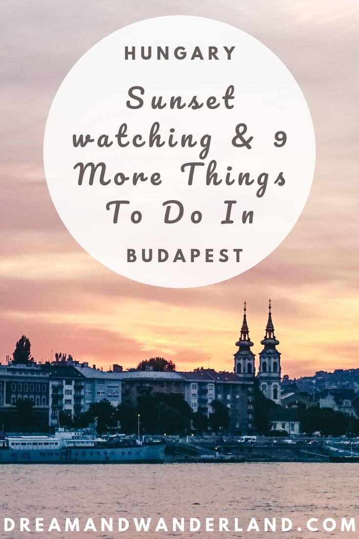 A weekend getaway to Budapest, Hungary and 10 unique things to do! From sunset watching to street food and ruin bars! And don't forget the Thermal Baths in Budapest! #travel #europe