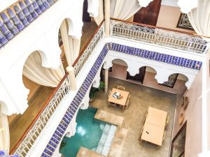 View from the top floor of Monriad; an extraordinary riad and one of the best accommodations in Marrakech. An unforgettable experiences while traveling Morocco #thingstodo #wheretostay