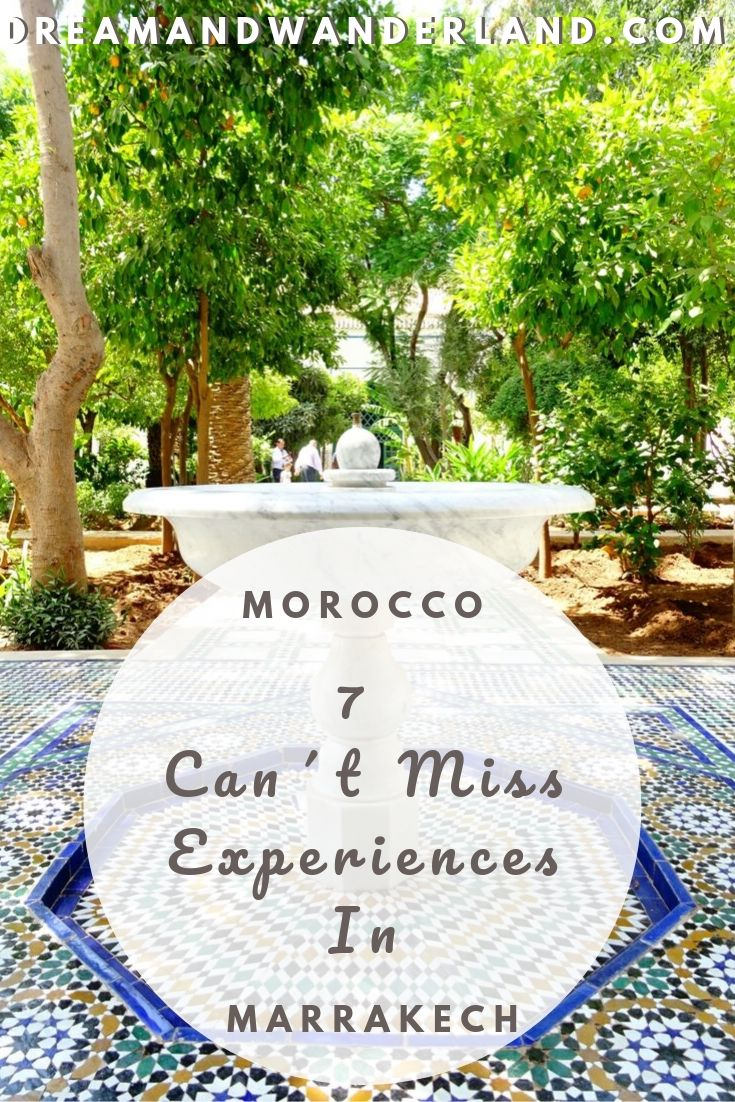 Make your trip to Morocco a once in a lifetime memory with the 7 Unforgettable Activities In Marrakech! #travel #thingstodo #africa