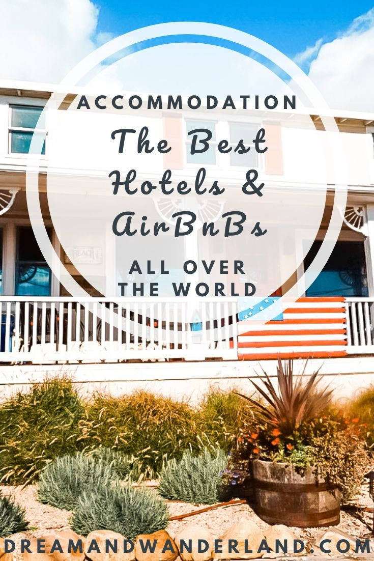 The best accommodations, hotels, & AirBnBs all over the world! Find the best way to stay for your travels! #wheretostay