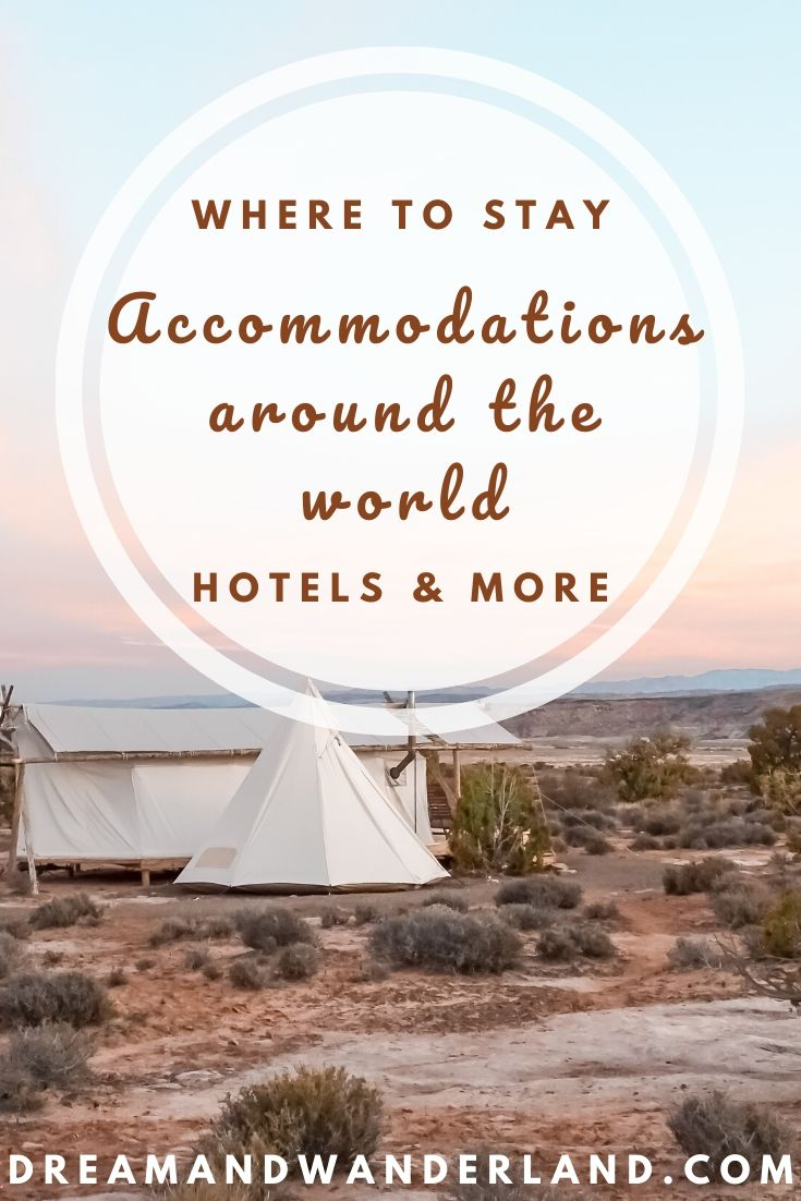 Best hotels, hostels, and Airbnbs around the world! #wheretostay