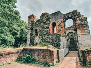 Ancient ruins of Kaiserpfalz in Kaiserswerth. A day trip from Düsseldorf! An easy tube ride from the city! #travel #germany #europe #thingstodo