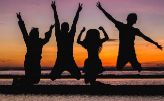 Silhouette Jumping People - Why saying goodbye is the worst! Making friends while traveling!