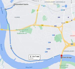 One of the best routes alongside the Rhine: from Düsseldorf Flehe to Hamm. #travel #Germany #walkingadventure