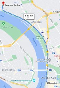 Walk alongside the Rhine from Düsseldorf Old Town to Nord Park. #travel #Germany #walkingadventure