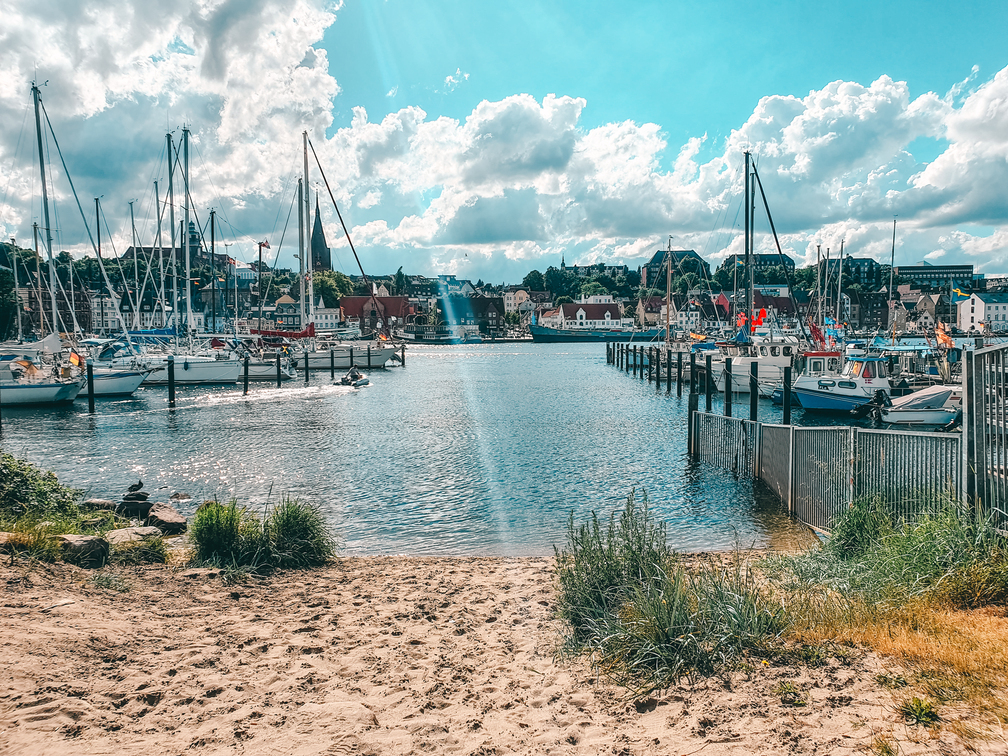 City beach in Flensburg! Travel Baltic Sea Coast and stay in this beautiful town and enjoy the flair!